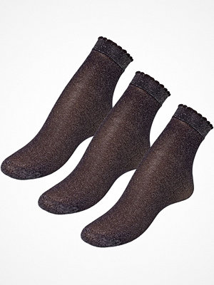 Strumpor - Pierre Robert 3-pack Glitter Socks Black
