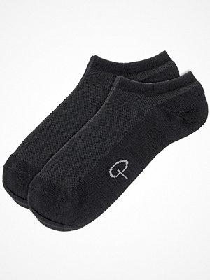 Strumpor - Pierre Robert 2-pack Wool Low Cut Black
