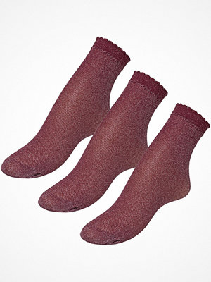 Strumpor - Pierre Robert 3-pack Glitter Socks Red