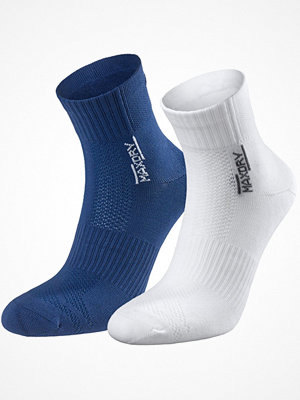 Strumpor - Pierre Robert 2-pack Mid Cut Socks Women Blue/White