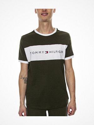 Tommy Hilfiger Original SS Crew Tee Logo Flag Green/White