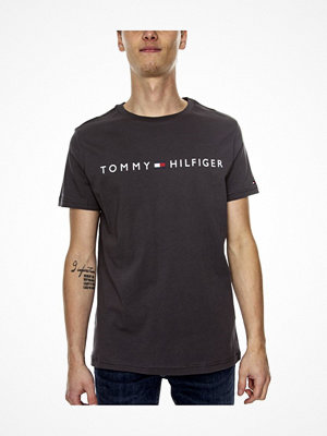 Tommy Hilfiger Original Crew Tee Logo Flag Grey/Black