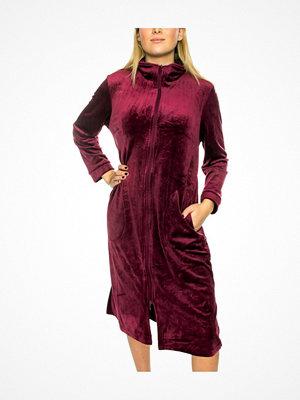 Trofé Trofe Velvet Fleece Robe Zip Wine red