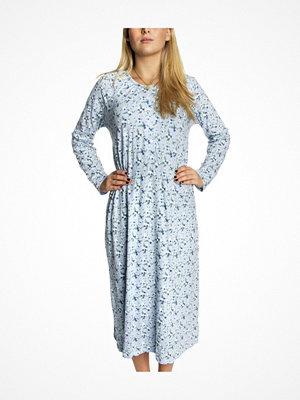 Trofé Trofe Cotton Nightdress Long Blue w Flower