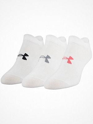 Strumpor - Under Armour 3-pack Essential No Show Socks White