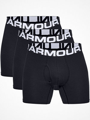 Under Armour 3-pack Charged Cotton 6in Boxer Black
