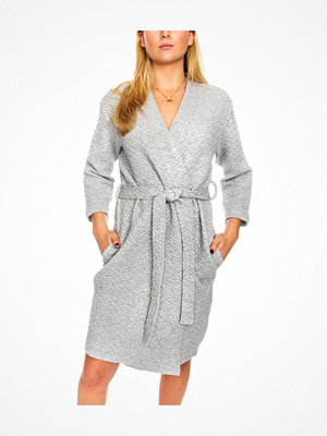 Calvin Klein Core Quilted Robe Grey