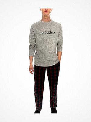 Calvin Klein Woven PJ Set Grey/Red