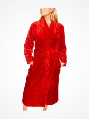Damella Fleece Waffle Robe Red
