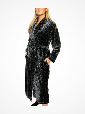 Damella Fleece Printed Robe Leopard