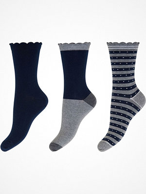 Strumpor - Decoy 3-pack Cotton Socks Navy/Grey