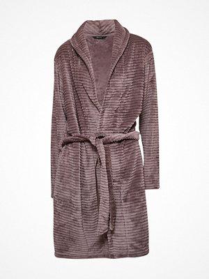 Decoy Women Stripe Robe Brown