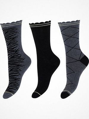 Strumpor - Decoy 3-pack Cotton Socks Grey/Black