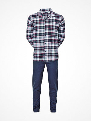 Pyjamas & myskläder - JBS Flannel Pyjama Blue/Red