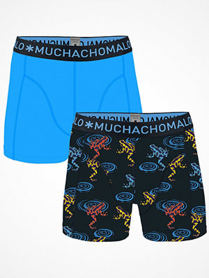 Muchachomalo 2-pack Cotton Frog Boxer Black/Blue