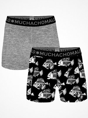 Muchachomalo 2-pack Cotton Fishbone Boxer Black pattern-2
