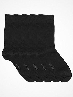 Strumpor - Resteröds 5-pack Cotton Socks Black