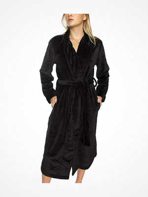 Calvin Klein Fluffy Quilted Robe Black