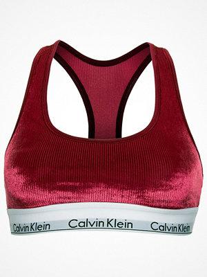 Calvin Klein Modern Cotton Velvet Rib Bralette Wine red
