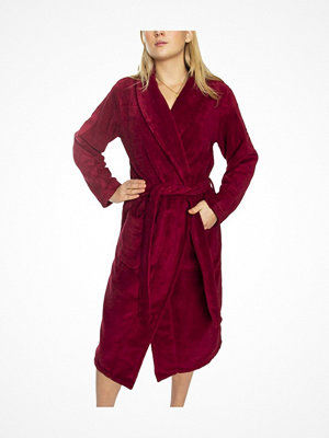 Calvin Klein Women Terry Logo Robe Wine red