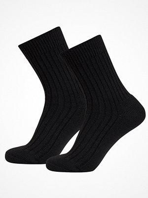 Strumpor - Claudio 2-pack Wool Terry Socks Black