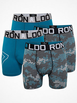 CR7 Cristiano Ronaldo 4-pack Boys Line Cotton Trunk Grey/Turquoise