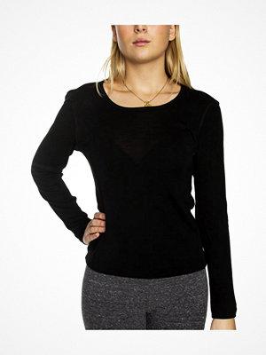 Damella Wool Long Sleeve Top Black