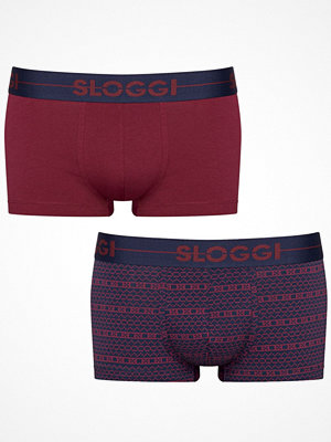 Kalsonger - Sloggi 2-pack Men Go Holiday Hipster Navy/Red