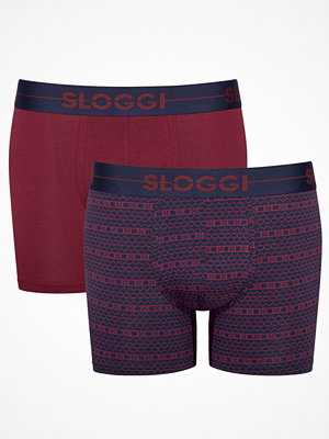 Kalsonger - Sloggi 2-pack Men Go Holiday Short Navy/Red
