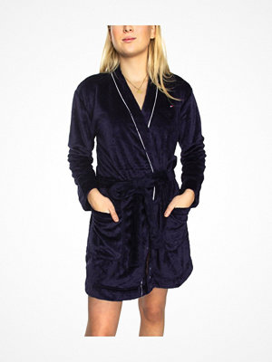 Tommy Hilfiger Fluffy Robe Navy-2