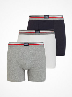 Kalsonger - Jockey 3-pack Cotton Stretch Boxer Trunk  Grey/Blue