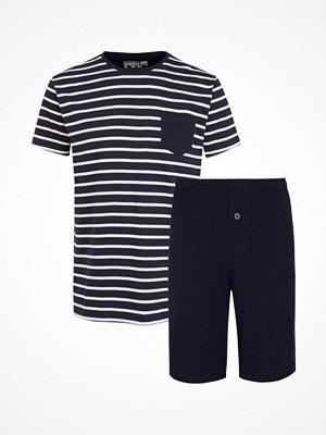 Jockey Cotton Nautical Stripe Short Pyjama Navy Striped