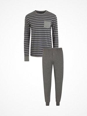 Jockey Cotton Nautical Stripe Pyjama Greystriped