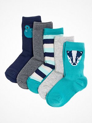 Strumpor - Pierre Robert 5-pack Eco Basic Socks For Kids Turquoise