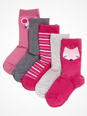 Strumpor - Pierre Robert 5-pack Eco Basic Socks For Kids Pink