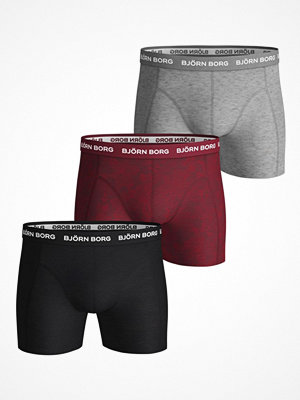 Björn Borg 3-pack Essential Shorts 1933 Grey/Red