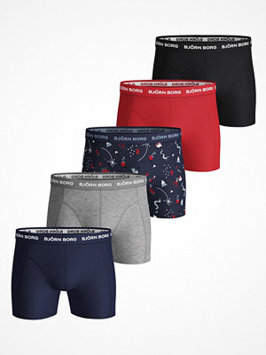 Kalsonger - Björn Borg 5-pack Essential Shorts 1935 Blue/Red