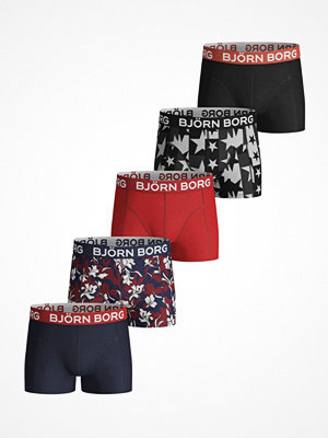 Kalsonger - Björn Borg 5-pack Cotton Stretch Shorts For Boys 1935 Blue/Red