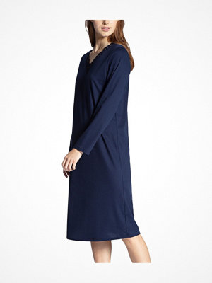 Nattlinnen - Calida Cosy Cotton Nights Nightdress Darkblue