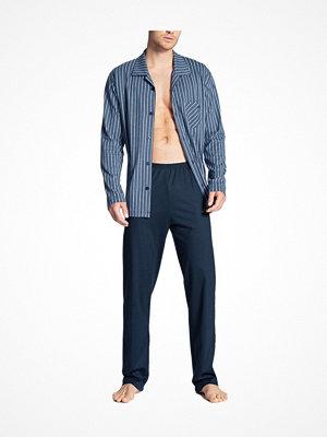 Calida Relax Imprint Buttoned Pyjama Blue