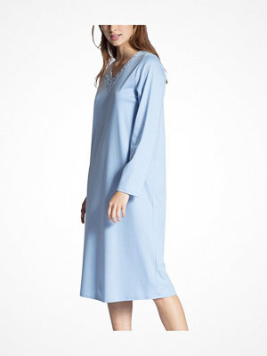Nattlinnen - Calida Cosy Cotton Nights Nightdress Blue