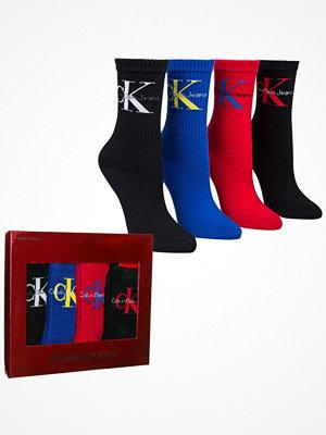 Strumpor - Calvin Klein 4-pack Hudson Jeans Logo Short Crew Gift Box Multi-colour