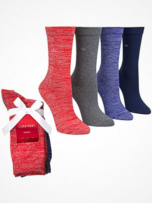 Strumpor - Calvin Klein 4-pack Isla Holiday Sprakle Crew Socks Red