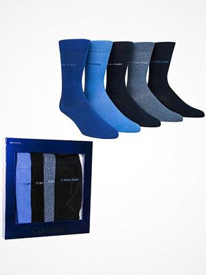 Strumpor - Calvin Klein 5-pack Teddy Solid Socks Gift Box Blue