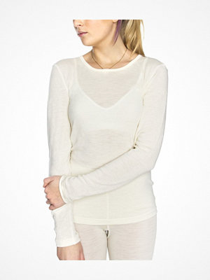 Damella Wool Long Sleeve Top Ivory-2