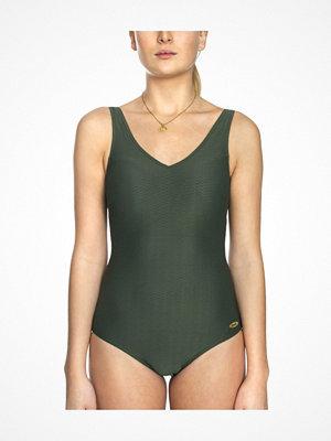 Damella Helen Jaquard Knit Swimsuit Olive