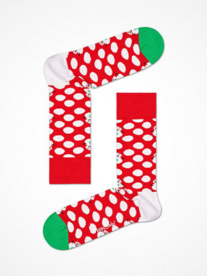 Strumpor - Happy Socks Happy Socks Big Dot Snowman Sock Red Pattern-2