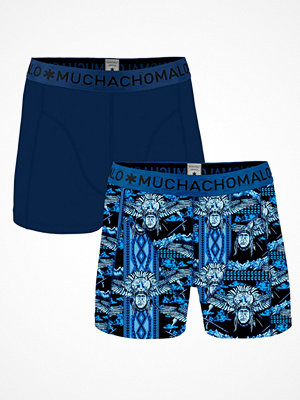 Kalsonger - Muchachomalo 2-pack Cotton Stretch Spirit Boxer Blue