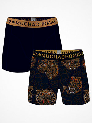 Kalsonger - Muchachomalo 2-pack Cotton Stretch Spirit Boxer Black/Gold-2