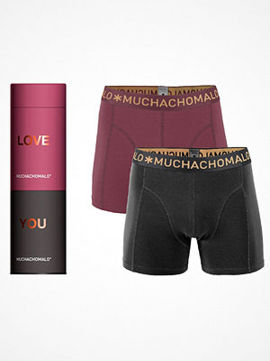 Kalsonger - Muchachomalo 2-pack Cotton Stretch Boxer Gift Box Black